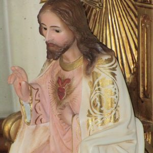 Figure of the sacred heart enthroned