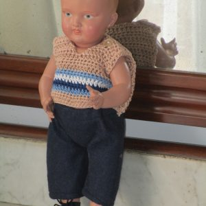 Celluloid doll marked with icsa