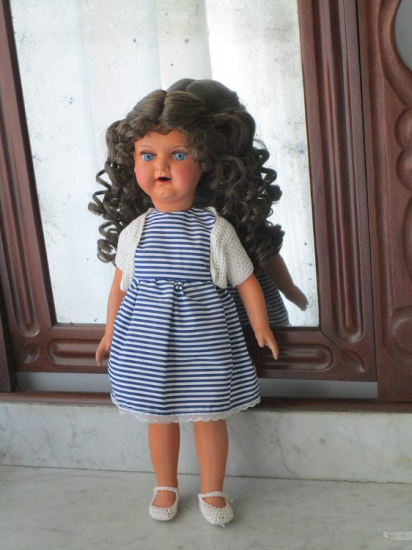 French brand celluloid doll