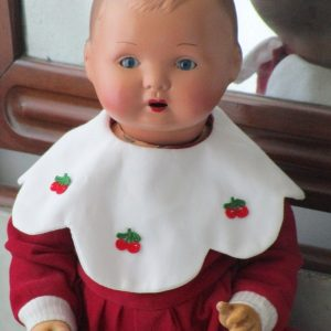 German ceramic doll marked foreign 70