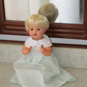 Celluloid doll marked as schutz marke germany