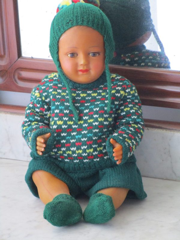Celluloid doll named jacky brand snf