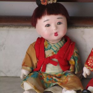 Couple of japanese ichimiatsu dolls