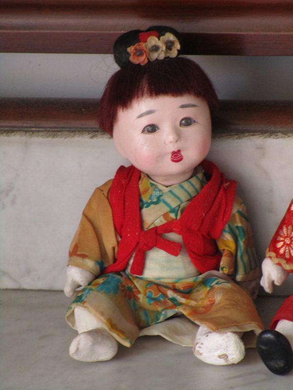 Couple of japanese ichimiatsu dolls