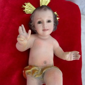 "Little baby jesus marked ""la montserratina"""