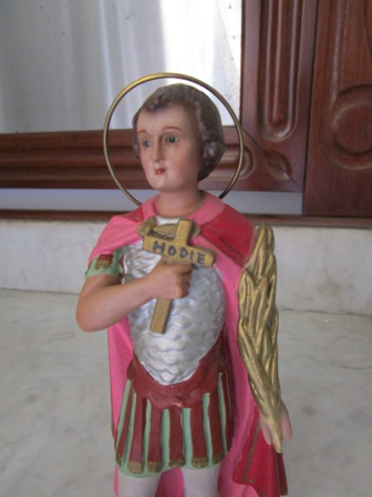 Figure of saint lazarus