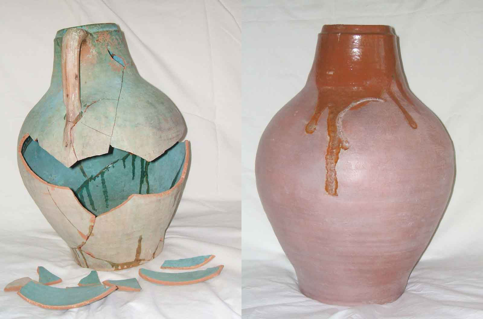Restauración de jarra de cerámica
