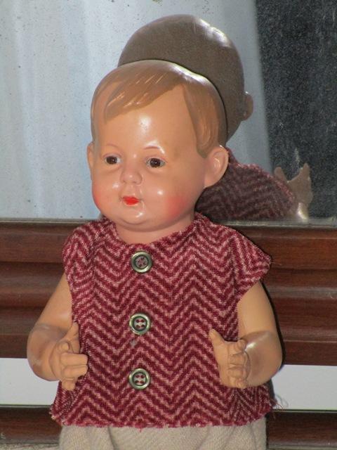 Muñeco celuloide schildkröt bebi 1925