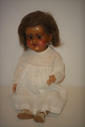 Late 19th century wax doll