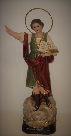 Figure of san pancrazio. saint of work and health