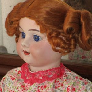 Antique Doll bisque marked No. 7