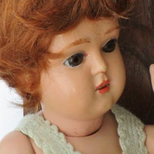 Antique Doll Celluloid Schutz Marke Germany 25/28