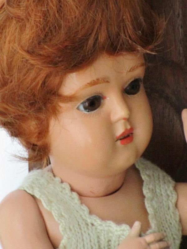 Antique Doll Celluloid Schutz Marke Germany 25/28