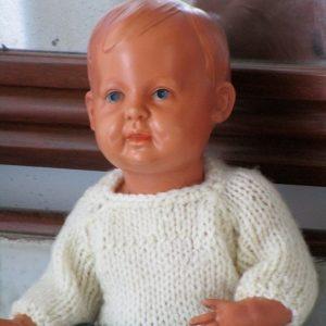 muñeco antiguo celuloide schildkrot nº 35