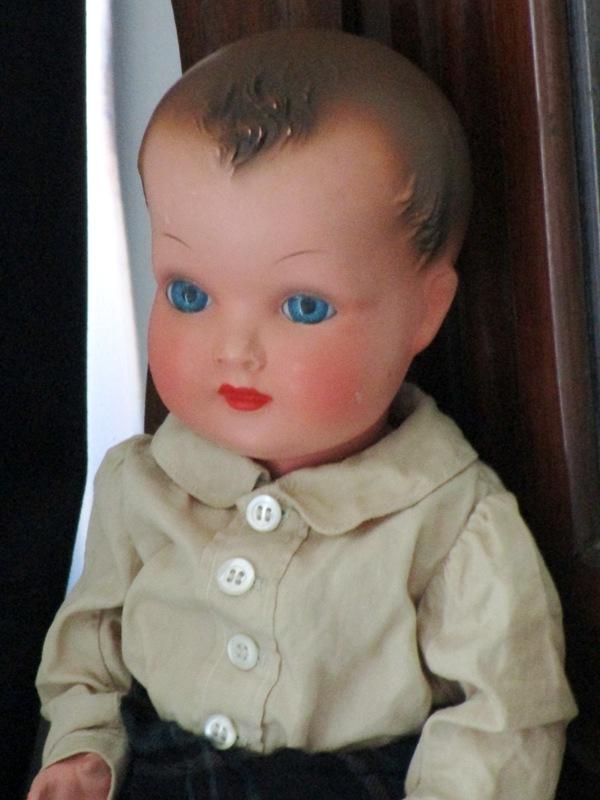 muñeco celuloide ojos azules