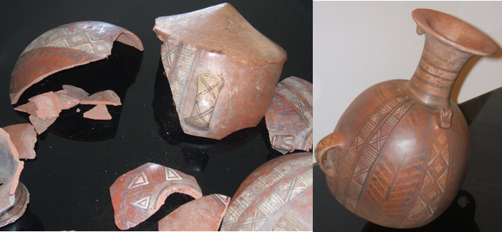 Restoration of a Mexican-style ceramic terracotta