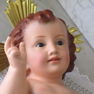 Niño jesús con ojos de cristal de olot