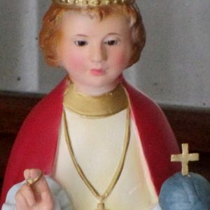 Baby jesus of prague with glass eyes
