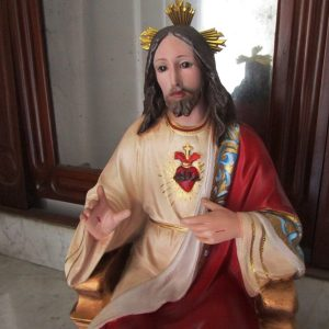 The enthroned Sacred Heart