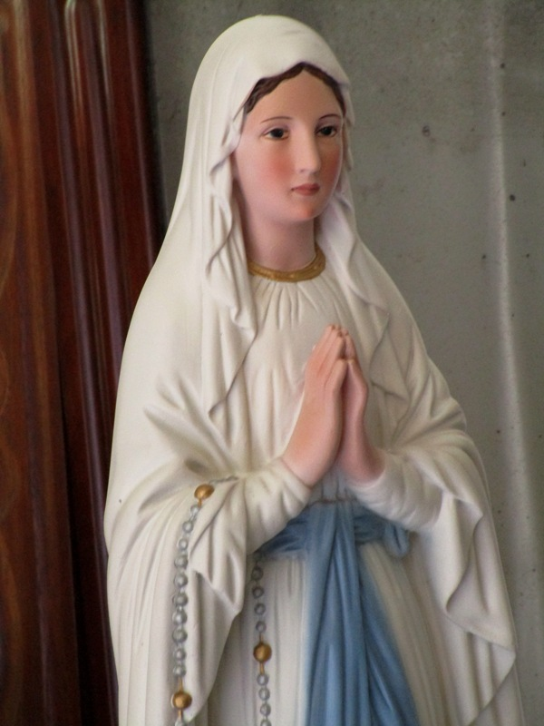 Our lady of lourdes with bernadette