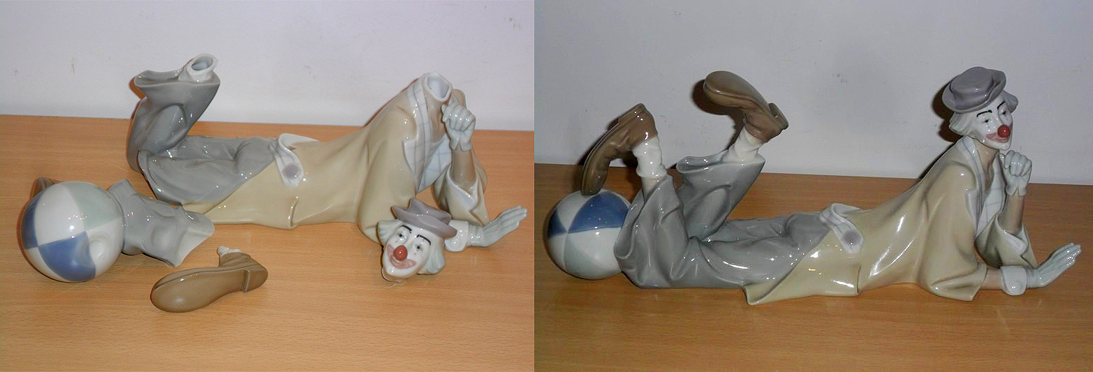 Restauración de figura de payaso lladró