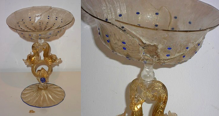 Restoration of a Murano glass cup​