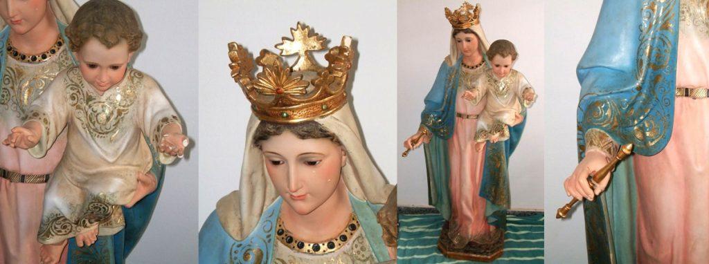 Restauración de imagen de la Virgen del Carmen de Salou