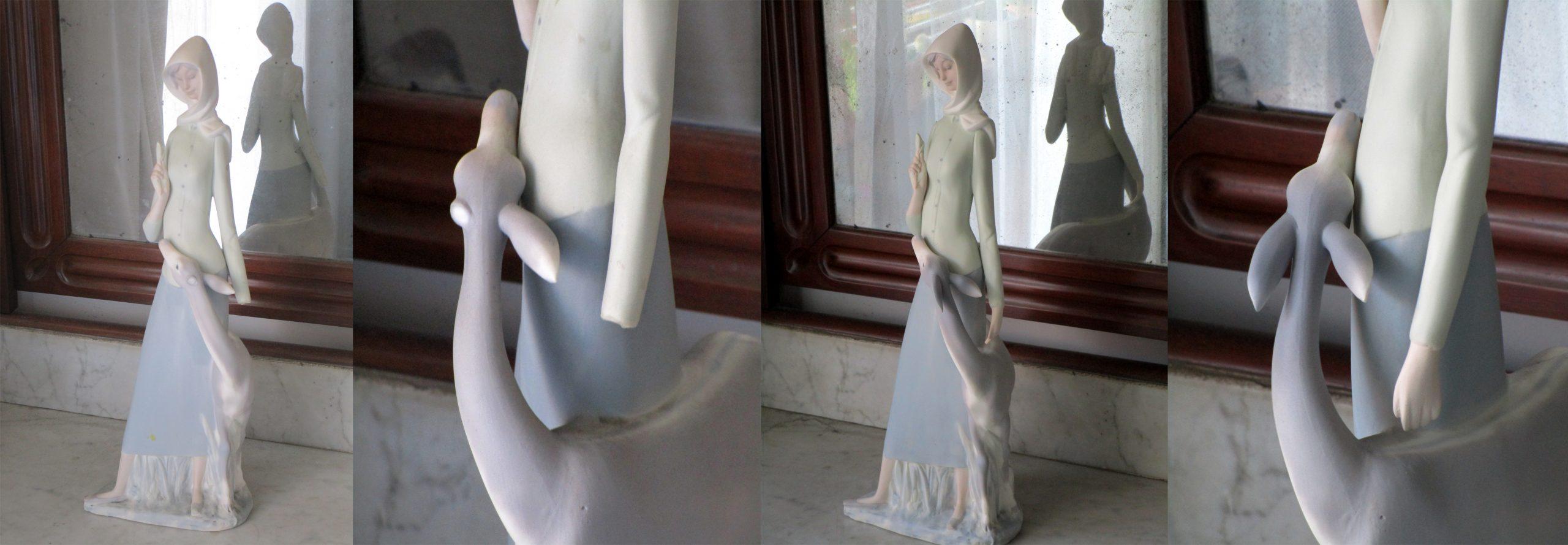 Restauració i reconstrucció de porcellana de gres de la marca Nao