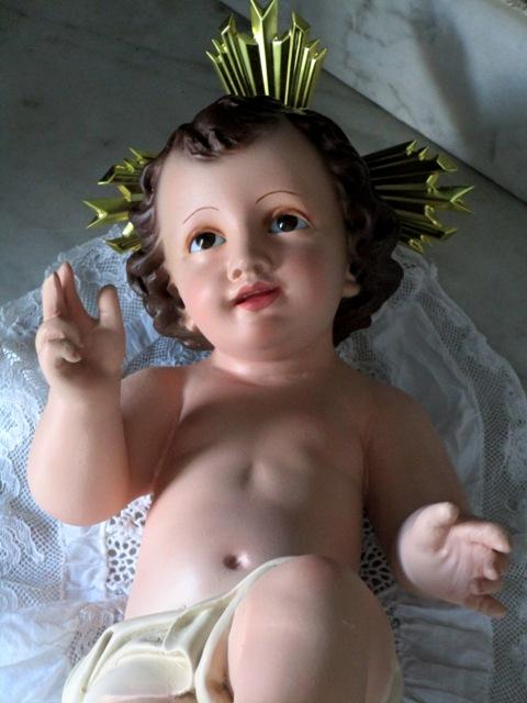 Niño Jesús ojos cristal Olot