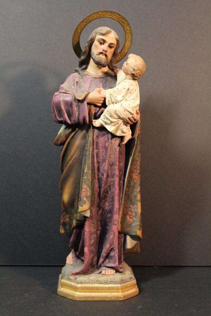 San José con el niño al cuello - Finales s.XIX