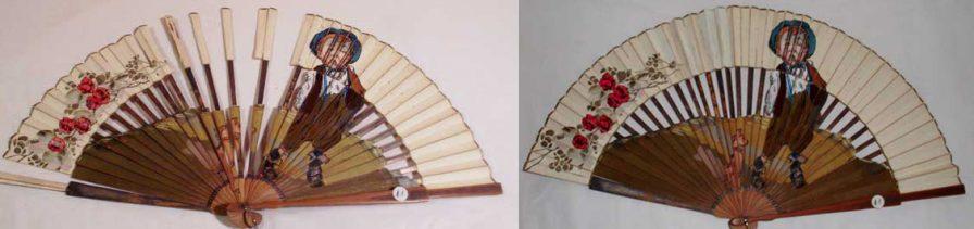 Paper hand fan repair